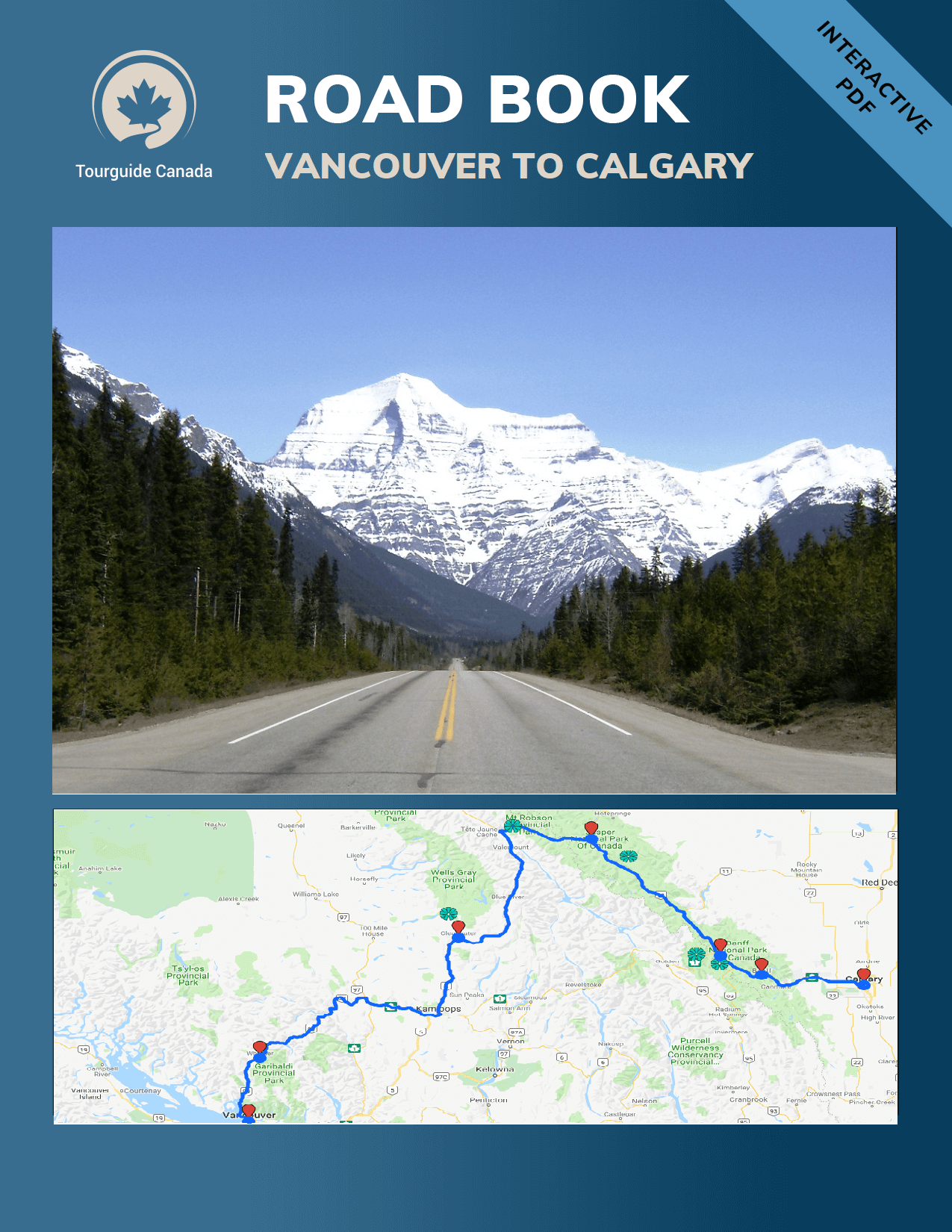 Road Book Preview Vancouver to Calgary