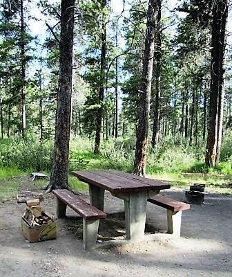a clean campsite