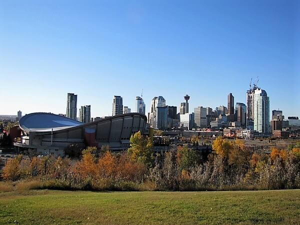 viewpoint of downtown Calgary