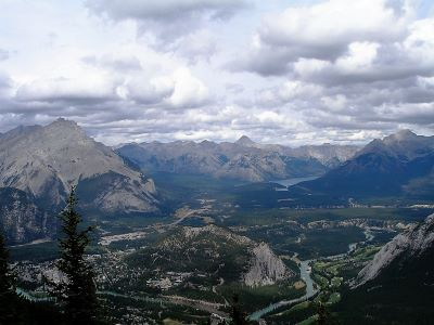 View from the gondola in Banff