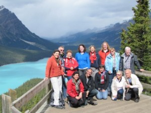 a small tour group in Canada