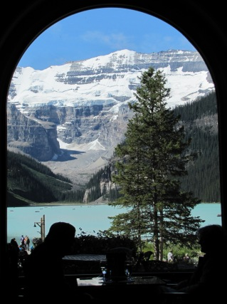 Window view Lake Louise