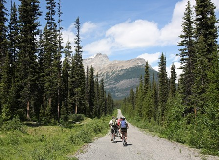 Pedal biking Lake Louise