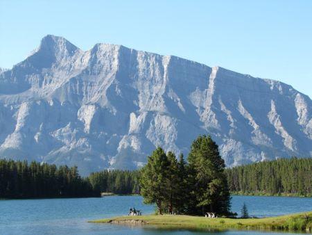 Two Jack Lake near Banff, Alberta