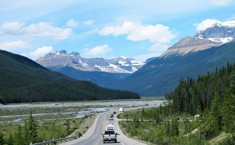 a road trip through Canada
