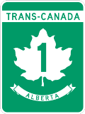 trans canada highway 1 sign